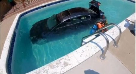 Νεαρός υποψήφιος οδηγός μπέρδεψε το γκάζι με το φρένο και έριξε το Ι.Χ σε πισίνα