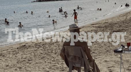 Με βουτιές ξορκίζουν τον καύσωνα οι Βολιώτες – Δείτε εικόνες