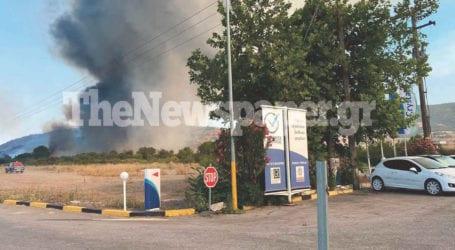 Βόλος: Κινδύνευσε βενζινάδικο από τη φωτιά – Ο φόβος των πυροσβεστών
