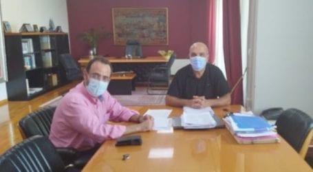 Συνάντηση του Κων. Μαραβέγια με τον δήμαρχο Αλμυρού