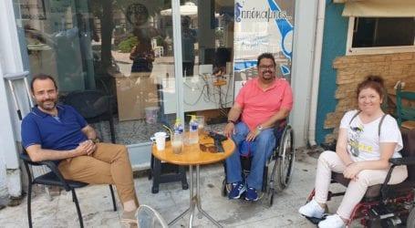 Επίσκεψη του Κων. Μαραβέγια στον «Ιππόκαμπο» για τα προβλήματα των ατόμων με αναπηρία