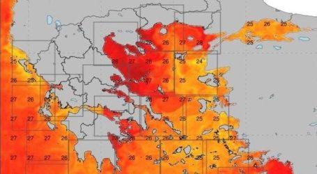 Ανησυχία από τα ζεστά νερά του Παγασητικού – Με τι φαινόμενο το συνδέουν οι μετεωρολόγοι [χάρτης]