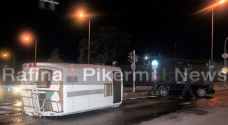 Τροχαίο με τρεις τραυματίες στη Λεωφόρο Μαραθώνος