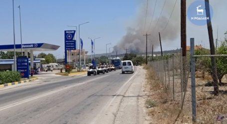 Φωτιά στη Ρόδο – Επί ποδός ισχυρή δύναμη της πυροσβεστικής