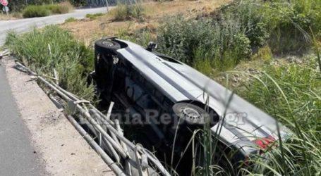 Λαμία: Φορτηγάκι έπεσε από γέφυρα