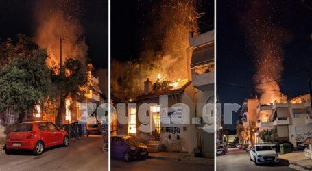 Φωτιά σε εγκαταλειμμένο κτήριο στην Καισαριανή