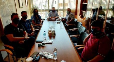 Συνάντηση του Αλέξανδρου Μεϊκόπουλου με τον Εμπορικό Σύλλογο Βόλου