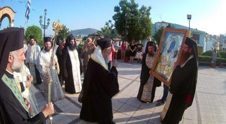 Στην Αγία Κυριακή Βόλου η Ιερά Εικόνα της Παναγίας Ξενιάς