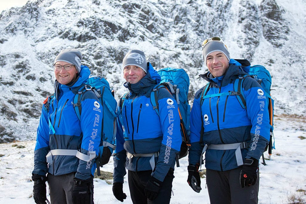 Mountain Hardwear Fell Top Assessors l r Jon Bennett Graham Uney and Zac Poulton 1200 1