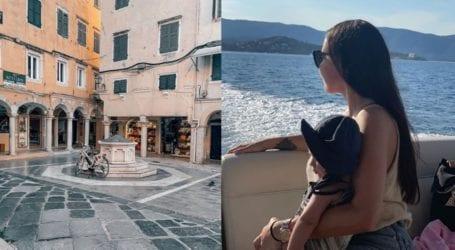 Όλγα Φαρμάκη- Σταύρος Μαντόπουλος: Οικογενειακές διακοπές στην Κέρκυρα