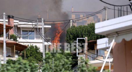 Καμένα σπίτια και στάχτη άφησε πίσω της η φωτιά στην Πάτρα