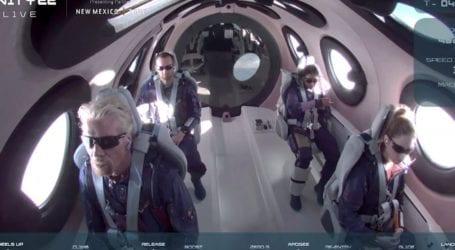 Πρωτιά του Μπράνσον στο διάστημα