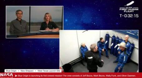 Ο Τζεφ Μπέζος πετά στο διάστημα – Δείτε ζωντανά την πτήση (vid)