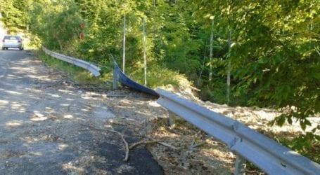Δεν πρόλαβε να ολοκληρωθεί δρόμος της ΠΕ Λάρισας και παρουσιάζει εικόνες καταστροφής (φωτο)