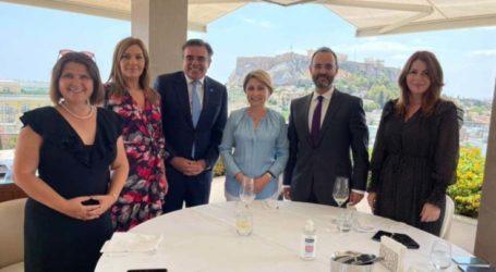 Μπίζιου-Hricova παρουσία Σχοινά: Γεύμα εργασίας της Κ.Ο. Φιλίας Ελλάδας-Σλοβακίας με στόχο την ενίσχυση των διμερών σχέσεων