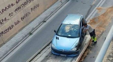 Τροχαίο στην υπόγεια διάβασητηςΕχεκρατίδος στη Λάρισα, έκλεισε την κυκλοφορία (φωτο)