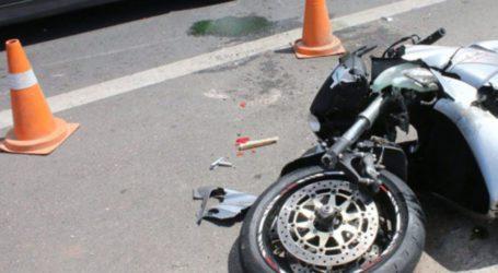 ΤΩΡΑ: Εκτροπή μοτοσυκλέτας στον Περιφερειακό του Βόλου – Ένας τραυματίας