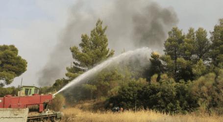 Στρατιωτικό άρμα από το 304 ΠΕΒ Leopard-1 μετασκευασμένο σε πυροσβεστικό σβήνει φωτιά [βίντεο]