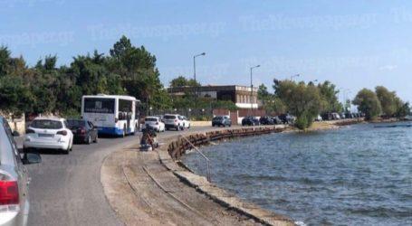 Αρκετή η κίνηση στον δρόμο προς Αγριά – Ακινητοποιημένα οχήματα για πάνω από 15 λεπτά