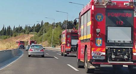 Επιστροφή Πυροσβεστών από Ουκρανία και Ρουμανία σε κομβόι στο ύψος του Πλαταμώνα (βίντεο και φωτό)