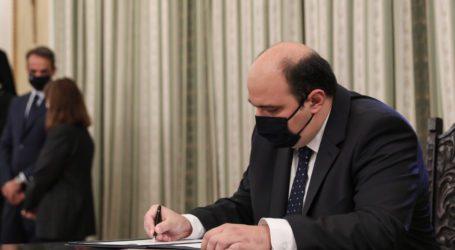 H πρώτη δήλωση του Χ. Τριαντόπουλου μετά την υπουργοποίησή του