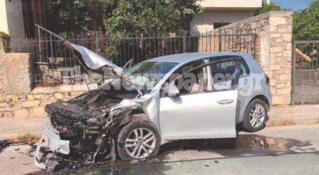 Τροχαίο ατύχημα στην Αγριά – Μεγάλες υλικές ζημιές σε ΙΧ[εικόνες]