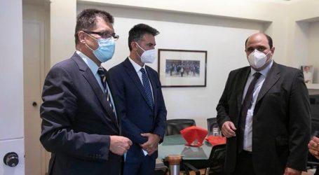 Τον Ευρωπαίο Επίτροπο Janez Lenarčič συνάντησε ο Χρήστος Τριαντόπουλος