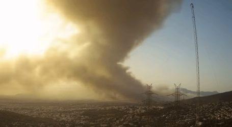 To time lapse της πυρκαγιάς στη Βαρυμπόμπη