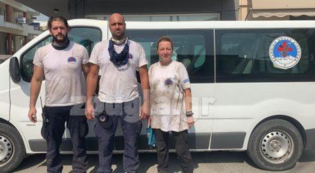 Η Ελληνική Ομάδα Διάσωσης στην πρώτη γραμμή της πυρόσβεσης