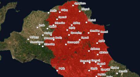 Η καμένη έκταση στην Βόρεια Εύβοια είναι 465.820 στρέμματα
