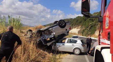 Τροχαίο ατύχημα με πέντε τραυματίες στα Χανιά