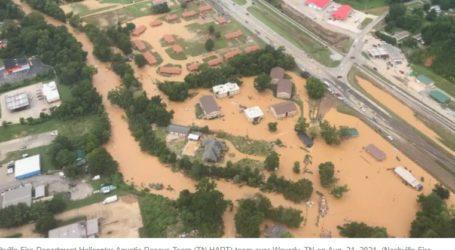 Τενεσί – Γυναίκα παρασύρεται από τη πλημμύρα ενώ κάνει live μετάδοση
