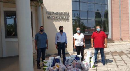 Είδη πρώτης ανάγκης για τους πυρόπληκτους συγκεντρώνει καθημερινά η Περιφέρεια Θεσσαλίας (φώτο)