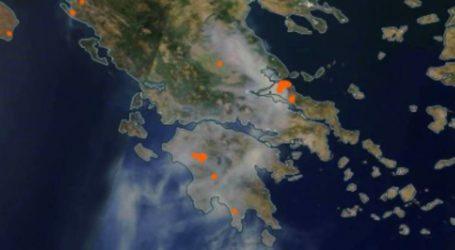 Η Πολιτική Προστασία για την ατμόσφαιρα στη Θεσσαλία από τις φωτιές της Εύβοιας