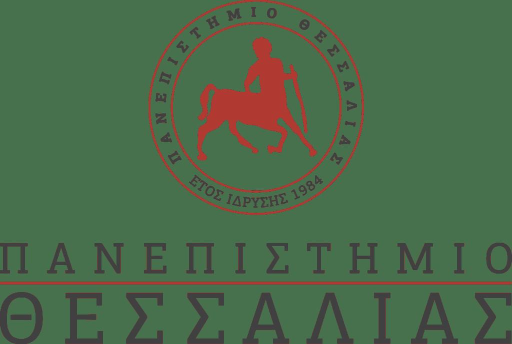 University oi Thessaly logo text greek