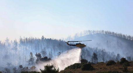 Σε εξέλιξη η φωτιά στην Κορυφή Ηλείας – Δεν απειλείται ο οικισμός