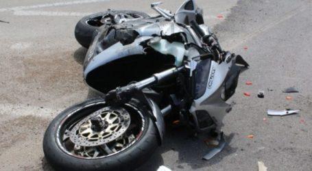 Λάρισα: Τροχαίο με μηχανή στον κόμβο της ΔΕΥΑΛ