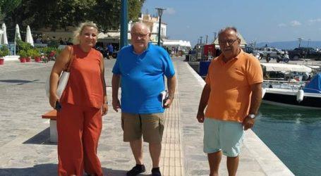 Σκόπελος: Συνάντηση Περίσση με Ξηντάρη και Χαμονικολάου για την ισότιμη συμμετοχή των ατόμων με οπτική αναπηρία στην παραλία του νησιού