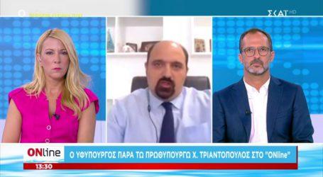 Τριαντόπουλος: Ξεπέρασαν τις 2.700 οι αιτήσεις στην πλατφόρμα arogi