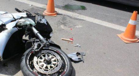 Λάρισα: Τροχαίο με σύγκρουση ΙΧ και μοτοσικλέτας στην οδό Βόλου – Στο νοσοκομείο σοβαρά δύο τραυματίες