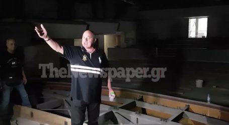 Επιθεώρησε τις εργασίες στο Δημοτικό Θέατρο Βόλου ο Αχιλλέας Μπέος – Θα παραδοθεί στους πολίτες το 2023