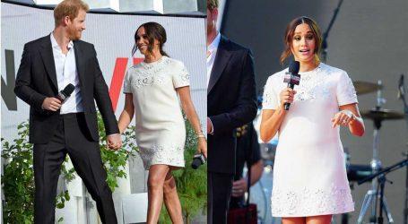 Meghan Markle: Με μίνι Valentino φόρεμα στη σκηνή του Global Citizen Live στο πλευρό του πρίγκιπα Harry