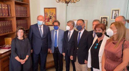 Στη Λάρισα ο υπουργός Δικαιοσύνης Κώστας Τσιάρας (φωτό)