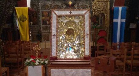 Πανηγυρίζει η Μεγάρχη την εικόνα της Παναγίας Άξιον Εστίν