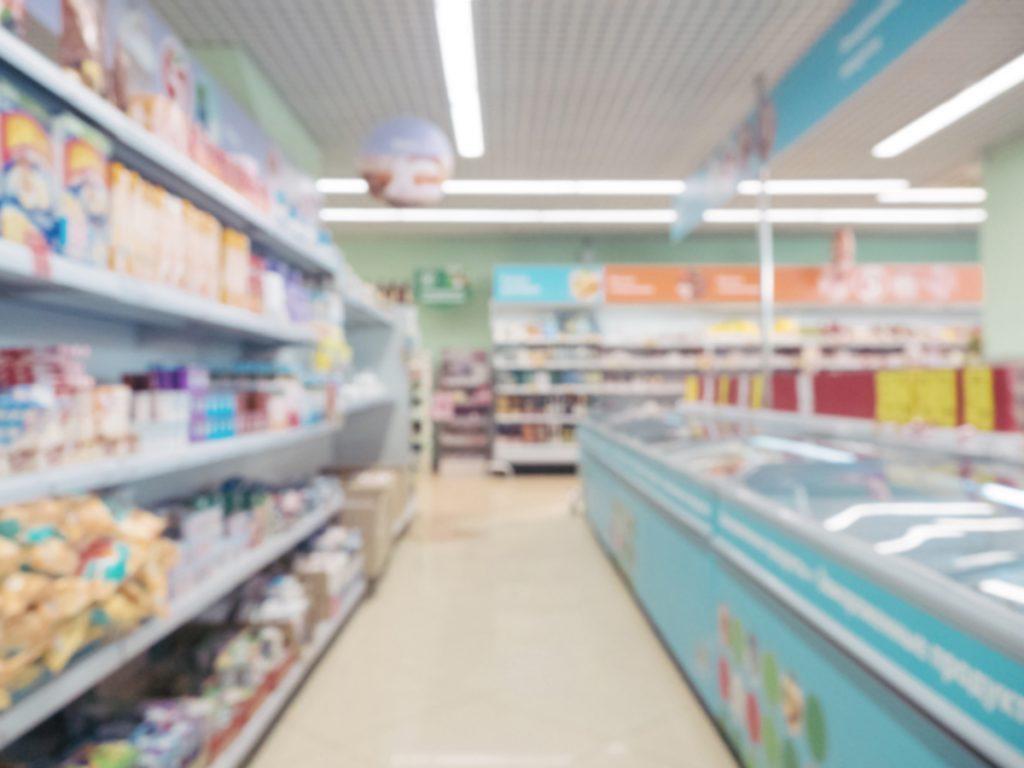 blurred supermarket aisle USXMGFP 1