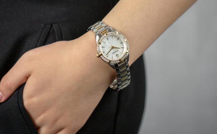 bulova diamonds two tone stainless steel bracelet sku40509 1 7074 700x700