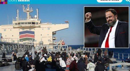 Δεξαμενόπλοιο «Αριστοφάνης» – Θέμα σε ξένα ΜΜΕ η διάσωση 152 προσφύγων με το πλοίο του Βαγγέλη Μαρινάκη