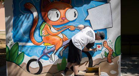 Ομορφο γκράφιτι στο Νηπιαγωγείο Φλαμουλίου