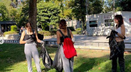 H Πρωτοβουλία Νέων καθάρισε εθελοντικά το πάρκο του Αλκαζάρ (φωτο)