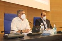 """Τεχνική σύσκεψη στη Λάρισα παρουσία Χρ. Τριαντόπουλου, Κ. Αγοραστού και Δημάρχων που επλήγησαν από τον """"Ιανό"""""""